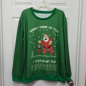 Unique Funny Elf holiday Season Sweatshirt 2XL